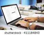Stock photo email correspondence mail message concept 411184843