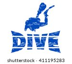 diving vector logo | Shutterstock .eps vector #411195283