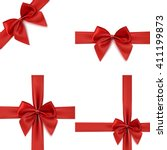 set with different gift... | Shutterstock .eps vector #411199873