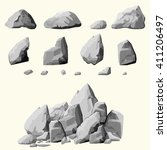 Set Of Stones  Rock Elements...