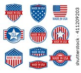 made in usa vector icons. made... | Shutterstock .eps vector #411209203