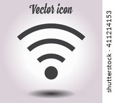 wifi symbol. vector wireless... | Shutterstock .eps vector #411214153