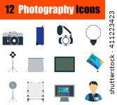 flat design photography icon...