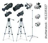 professional digital video... | Shutterstock .eps vector #411235327