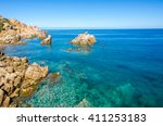 coast of sardinia   vacation in ... | Shutterstock . vector #411253183