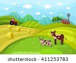 Illustration With A Farm...