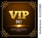 vip members only. vip persons... | Shutterstock .eps vector #411255883