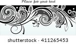 floral background with... | Shutterstock .eps vector #411265453