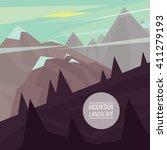 autumn picturesque mountain... | Shutterstock .eps vector #411279193