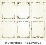 vector vintage calligraphic... | Shutterstock .eps vector #411290923
