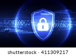 protection concept of digital... | Shutterstock .eps vector #411309217