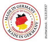 made in germany grunge... | Shutterstock .eps vector #411315937