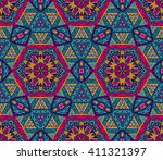 festive colorful seamless... | Shutterstock .eps vector #411321397