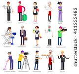 profession people. detailed... | Shutterstock .eps vector #411322483