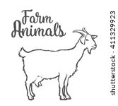 Farm Pet Goat Sketch Drawn By...