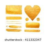 vector set of shining brush... | Shutterstock .eps vector #411332347