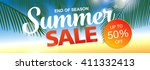 summer sale template banner | Shutterstock .eps vector #411332413