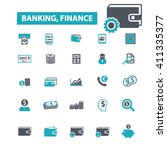 banking icons  | Shutterstock .eps vector #411335377