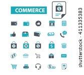 commerce icons  | Shutterstock .eps vector #411335383