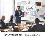 thinking determination... | Shutterstock . vector #411338143