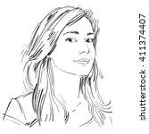 Vector Art Drawing  Portrait O...