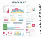collection infographic vector... | Shutterstock .eps vector #411374983