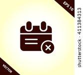 calendar flat icon. calendar...   Shutterstock .eps vector #411384313