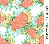 abstract elegance seamless... | Shutterstock .eps vector #411387343