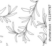 vector floral background | Shutterstock .eps vector #411399787