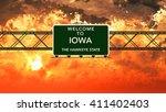 welcome to iowa usa interstate... | Shutterstock . vector #411402403