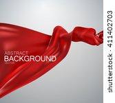 red silk fabric. vector... | Shutterstock .eps vector #411402703