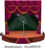 theater scene. vector... | Shutterstock .eps vector #411409573