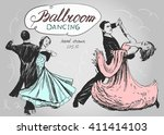 Ballroom Dance. Couple Dancing...
