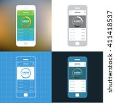 mobile wireframe app ui kit....