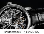 elegant watch with visible... | Shutterstock . vector #411420427