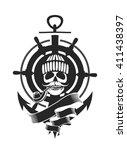 sailor skull logo signs on...   Shutterstock .eps vector #411438397
