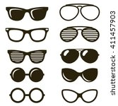 black sunglasses set