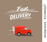 fast delivery illustration ... | Shutterstock .eps vector #411460267