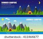 vector family vacation... | Shutterstock .eps vector #411464677