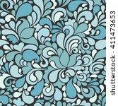 seamless tracery pattern.... | Shutterstock . vector #411473653