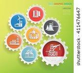 oil industry design gear info... | Shutterstock .eps vector #411476647