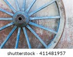 Part Of Old Ironed Blue Wagon...