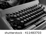 black and white retro... | Shutterstock . vector #411483703