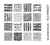 hand drawn textures  template . ... | Shutterstock .eps vector #411498607