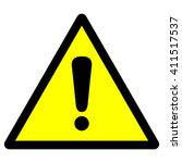 general warning sign with... | Shutterstock .eps vector #411517537