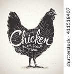 Graphical Silhouette Chicken...