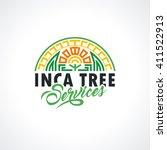 inca's logo template. tree... | Shutterstock .eps vector #411522913