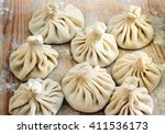 Chinese Dumplings Uncooked On...