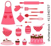 cute vector icons collection on ... | Shutterstock .eps vector #411540757