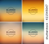 set of blurred backgrounds....   Shutterstock .eps vector #411545047